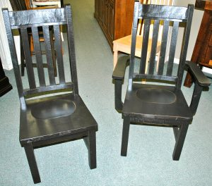 """Rustic"" Slatback Chairs"