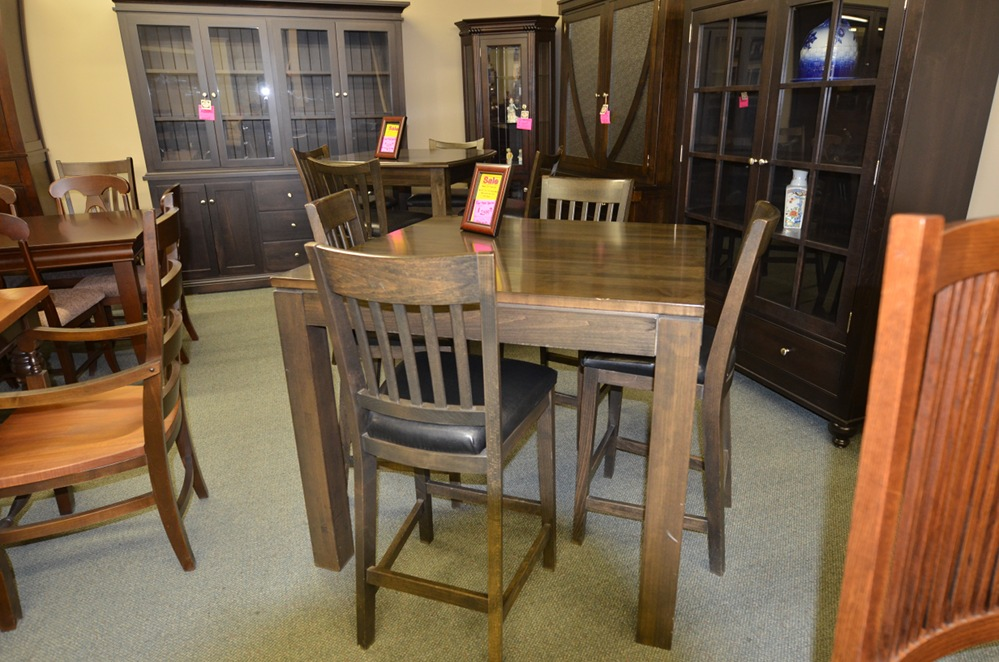Maple Counter Height Table Set Brices Furniture