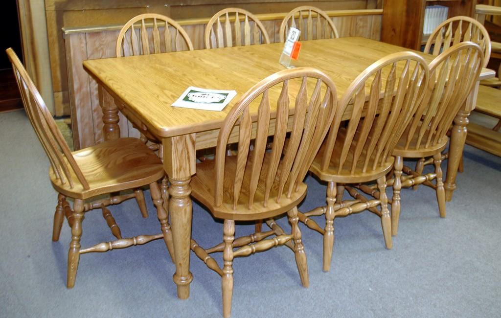 Oak 9 pc Harvest Table 2 – Brices Furniture